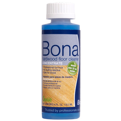 BONA HARDWOOD FLOOR CLEANER CONCENTRATE 4 OZ