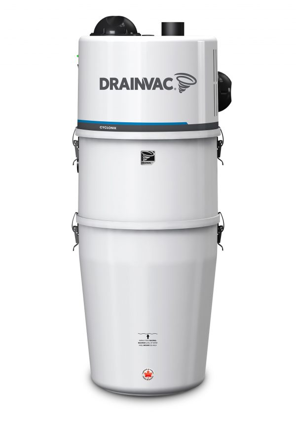 DrainVac DV1R15 residential wet and dry central vacuum