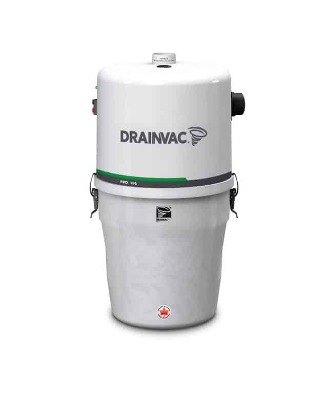 DrainVac PRO106 residential central vacuum