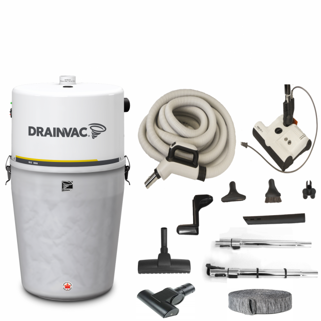 DrainVac G2-008 central vacuum package