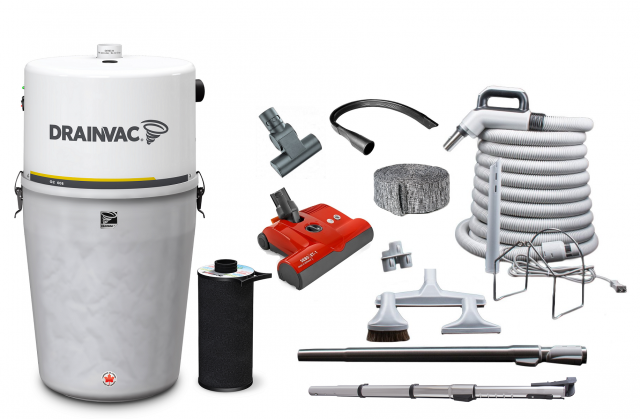 Drainvac Central vacuum package