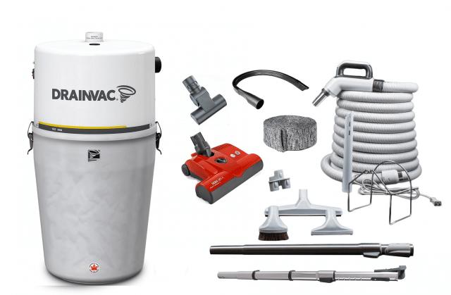 Drainvac central vacuum package