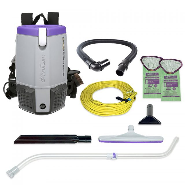 Proteam Super Coach Pro 6, commercial backpack vacuum 107310