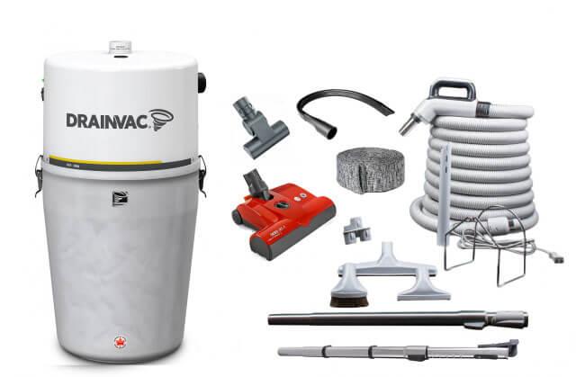 Drainvac central vacuum