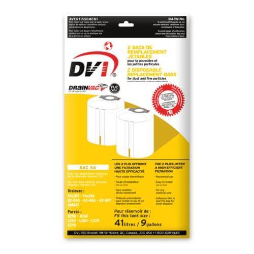 Drainvac vacuum bag